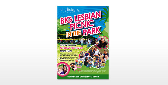 City Licker Picnic Posters & Advertising