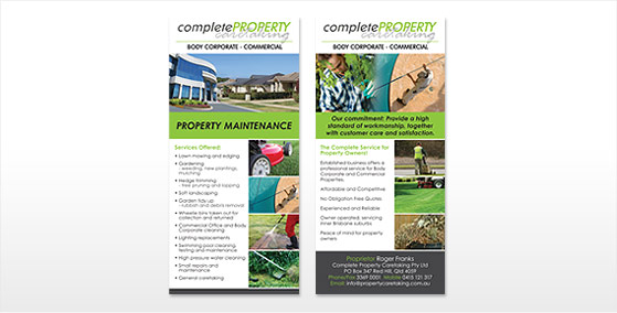 Complete Property Caretaking DL Flyer Design