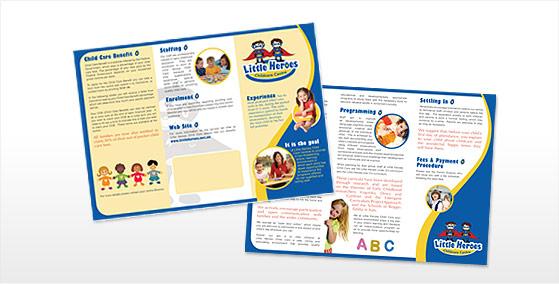 Little Heroes 6pg DL Brochure Design