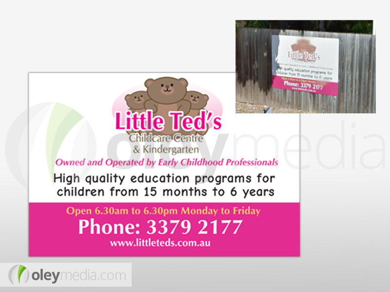 Little Teds Childcare Centre Outdoor Signage