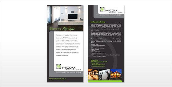 Micomm DL Flyer Design
