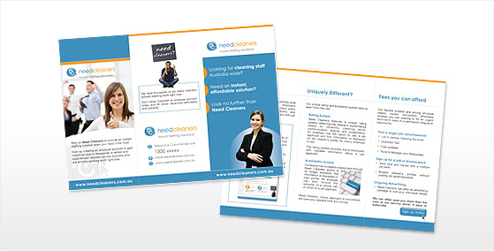 Need Cleaners 6pg DL Brochure Design