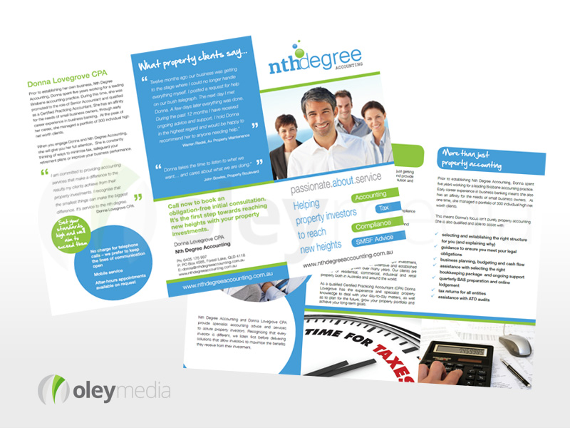 Nth Degree Accounting 6pg DL Brochure Design