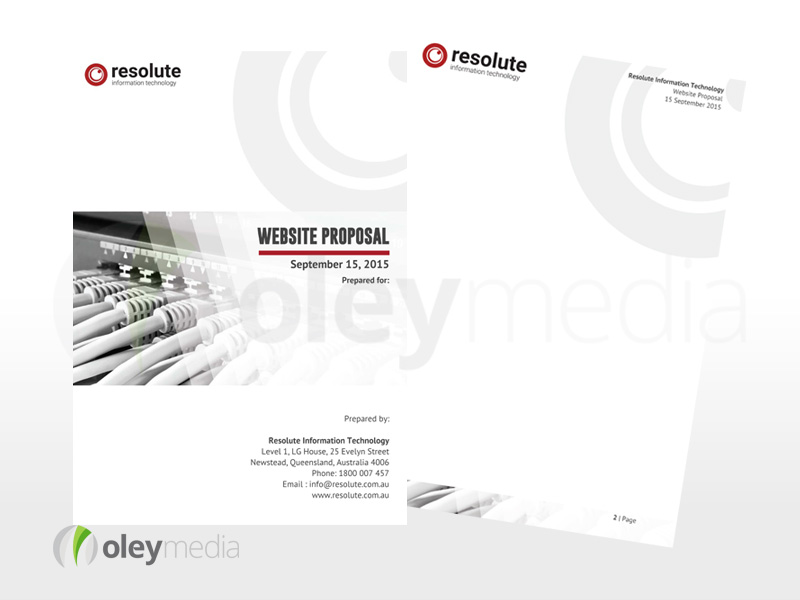 Resolute IT A4 Sales Proposal Flyer Template Design
