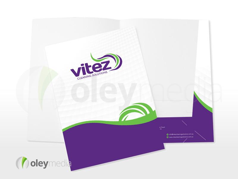 Vitez Cleaning Solutions Presentation Folder Design