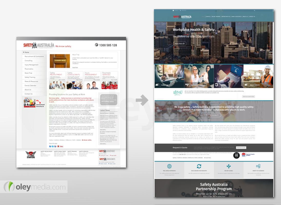 Website Design Makeover - Safety Australia Group