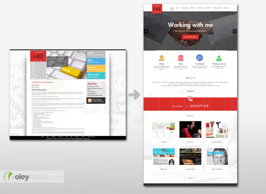 Website Design Makeover - The Word Shop