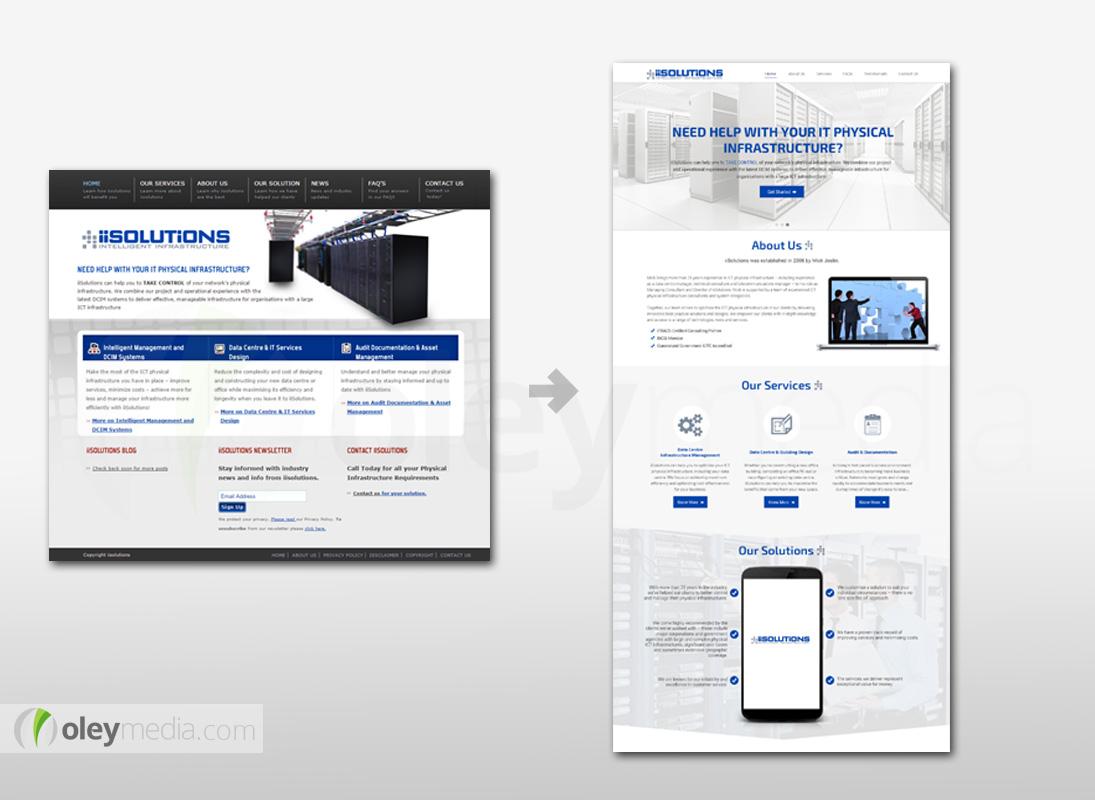 Website Design Makeover - iiSolutions