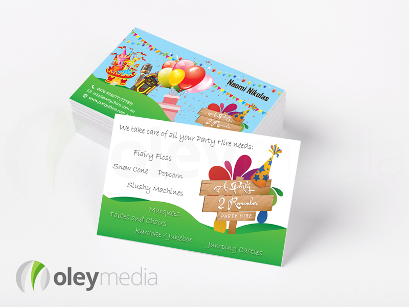 A Party 2 Remember Business Card Design