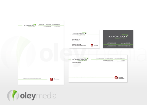 Acknowledge Accounting Corporate Identity Design