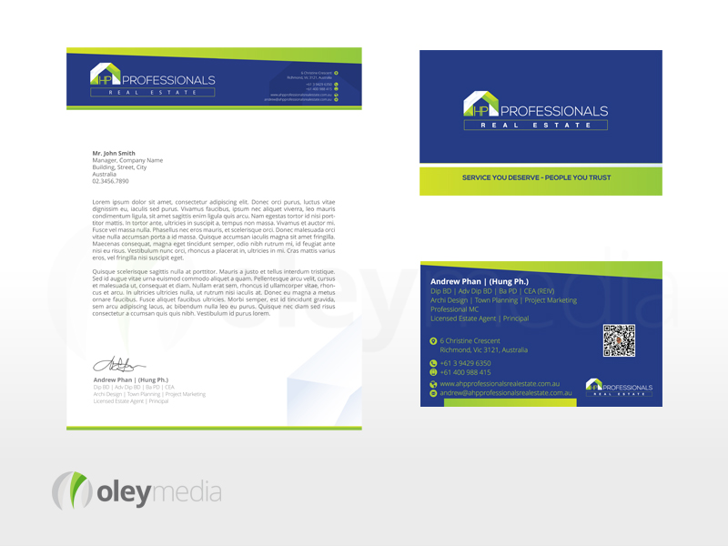 AHP Professionals Corporate Identity Design