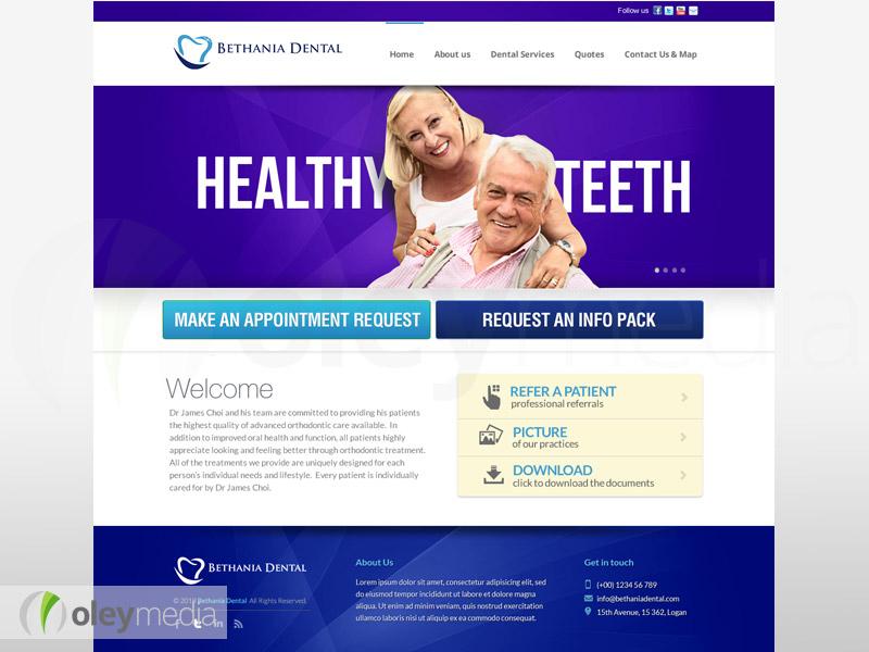 bethania dental website design
