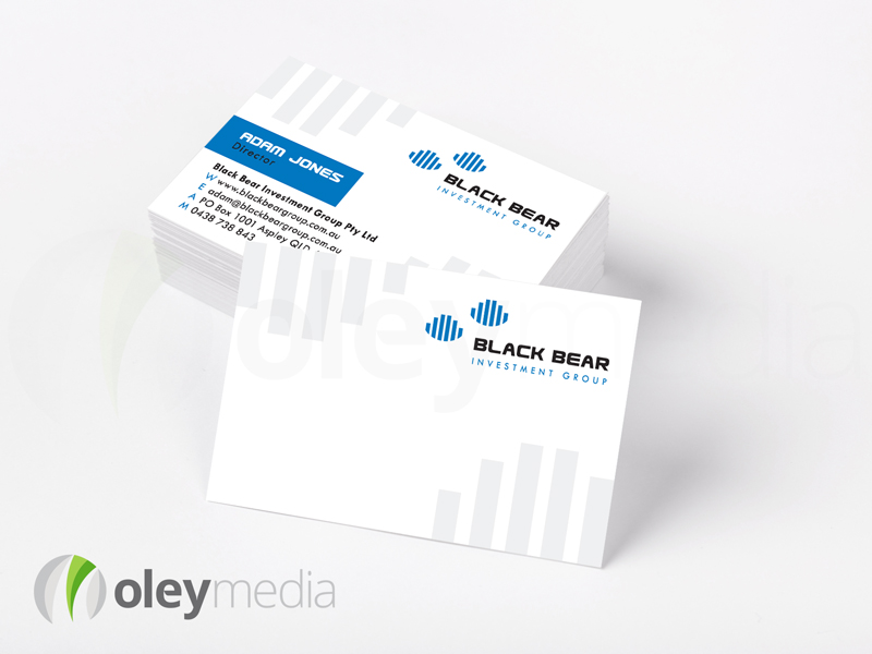 Black Bear Investment Group Business Card Design