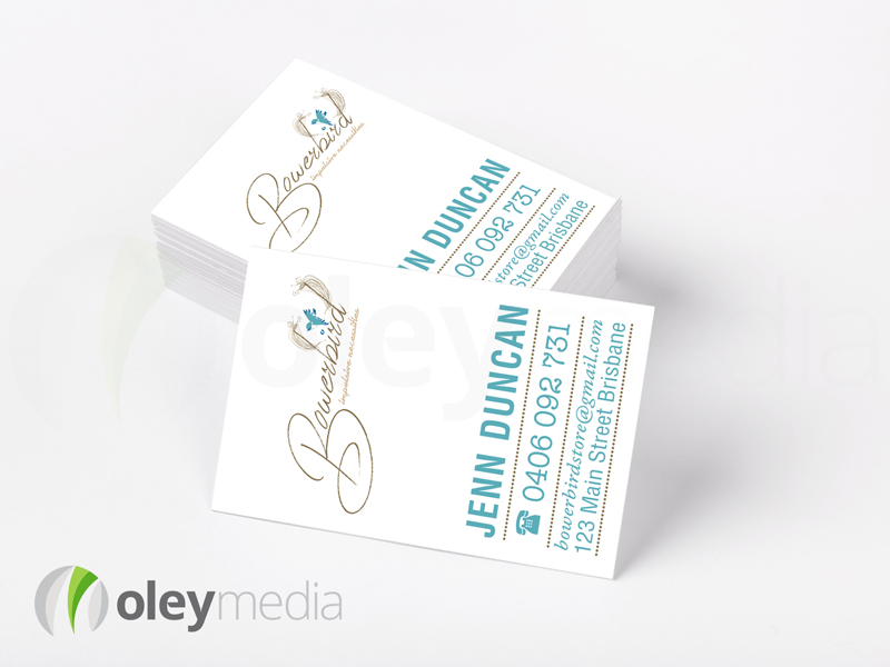 Bowerbird Business Card Design