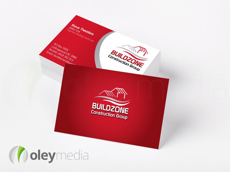 Buildzone Business Card Design