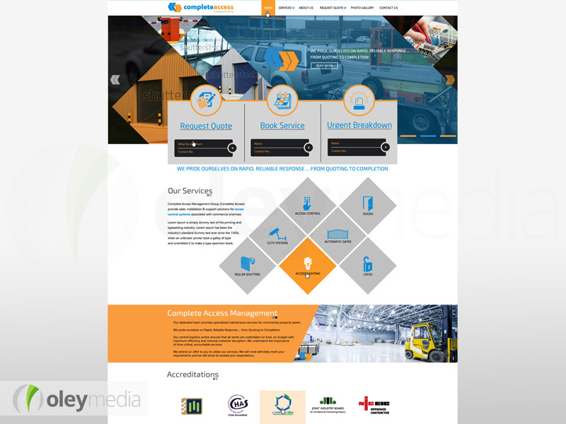 Complete Access Management Group - Website Design by Oley