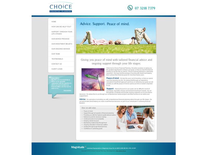 choice financial website design