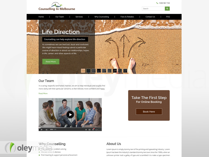 Counselling in Melbourne Website Design