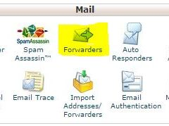 Cpanel Email Forwarders Menu