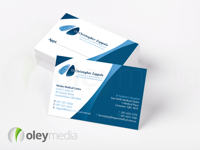 Dr Christopher Zappala Business Card Design