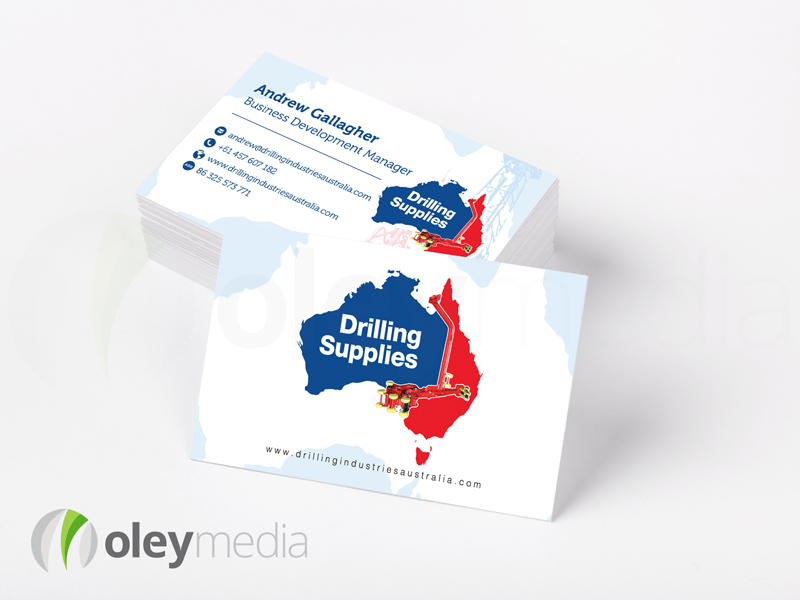 Drilling Supplies Business Card Design