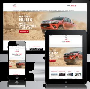 Eden Toyota Website Design Mobile Responsive
