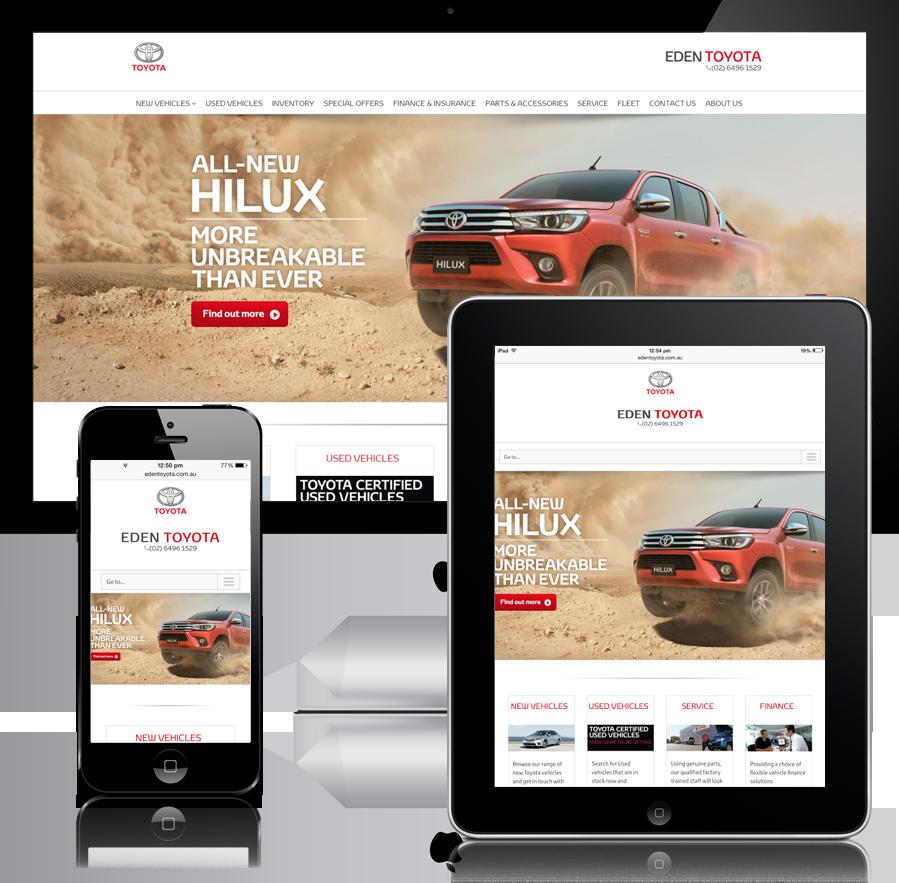 Eden Toyota Mobile Responsive Website Design
