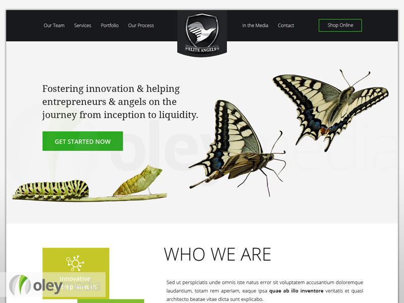 Elite Angels Website Design