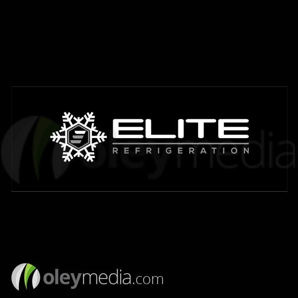 Elite Refrigeration Logo Design Oley Media Group