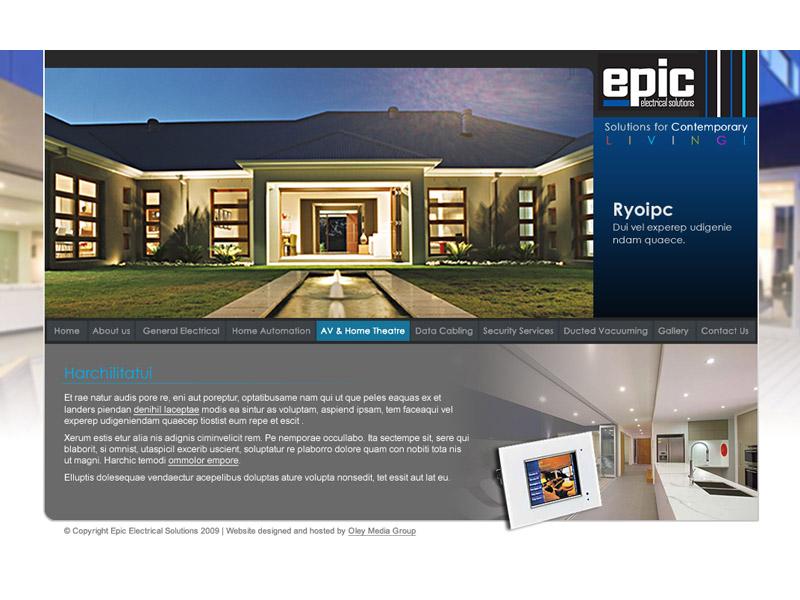 epic electrical website design