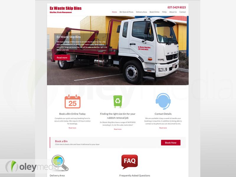 ex-waste skip bins website design
