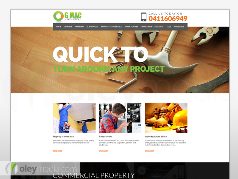 GMAC Constructions Website Design