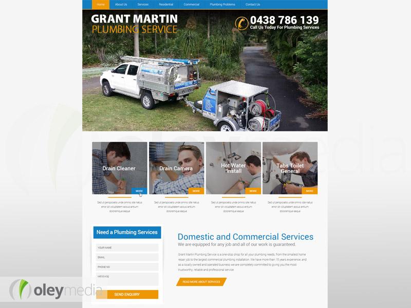 Grant Martin Plumbing Website Design