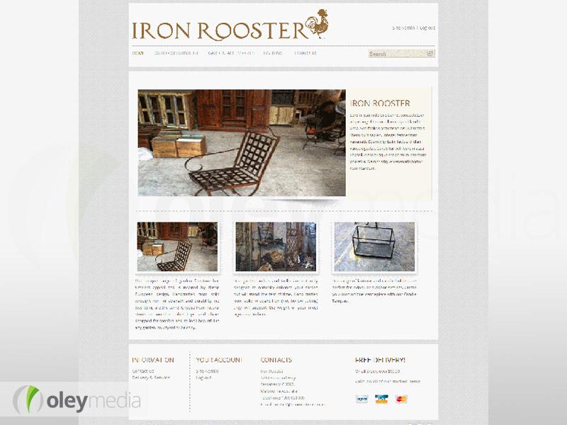 iron rooster website design