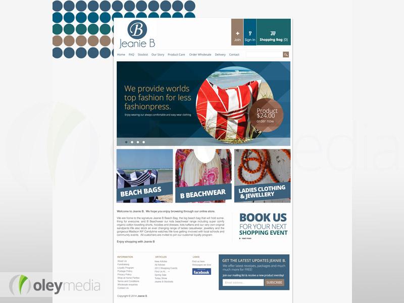 jeanieb website design