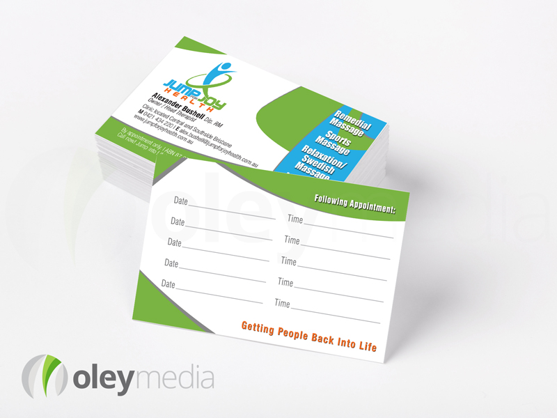 Jump for Joy Business Card Design