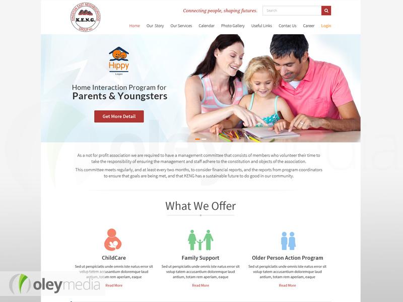 Website Design - Kingston East Neighbourhood Group (KENG)