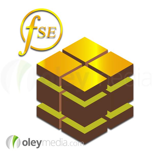 Land Banking Kenya FSE Gold Logo Design