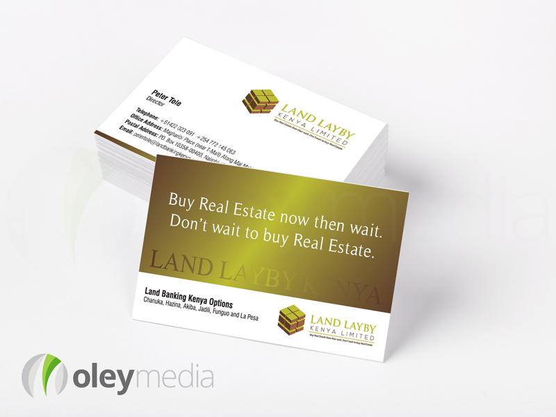 Land Layby Kenya Business Card Design