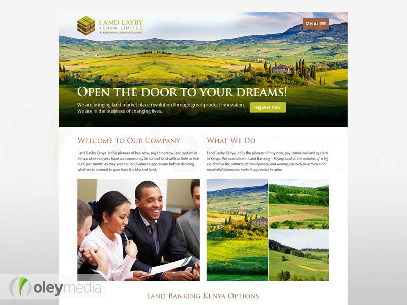 Website Design - Land Layby