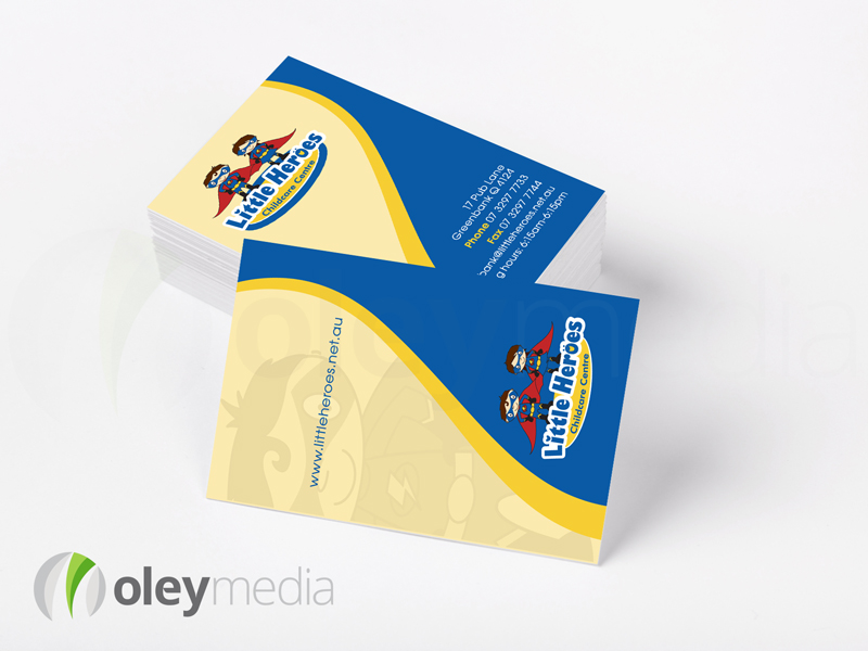 Little Heroes Childcare Centre Business Card Design