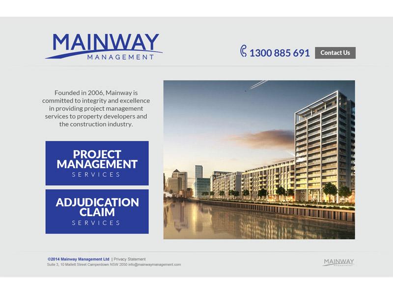 mainway website design