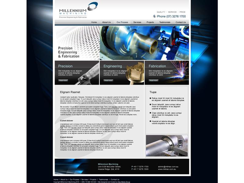 mill mac website design
