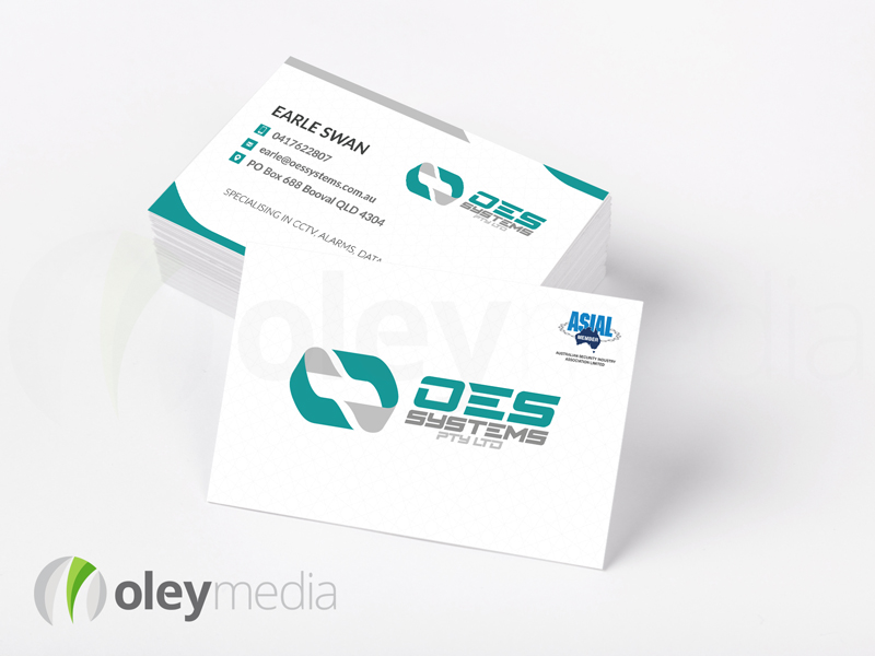 OES Systems Business Card Design