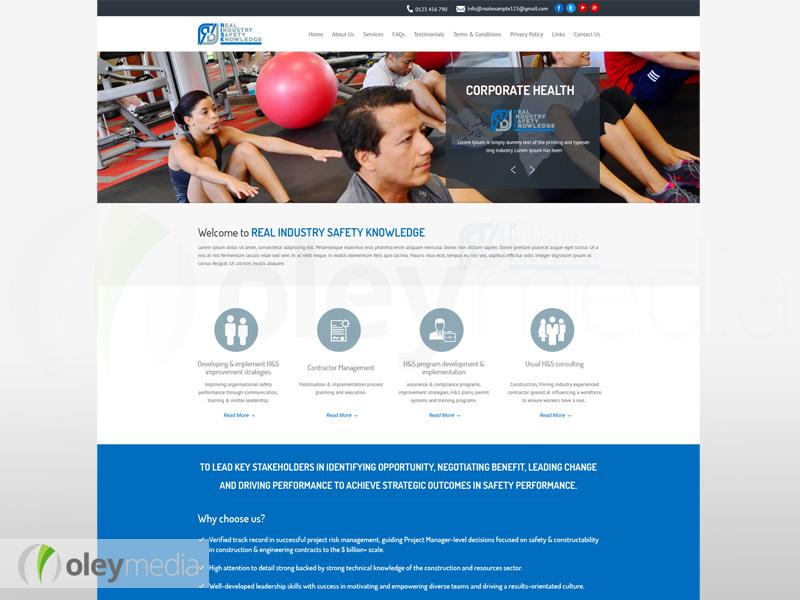 RISK Services Australia Website Design