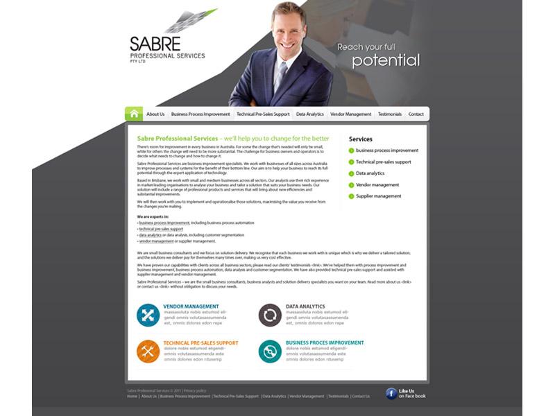 sabreps website design