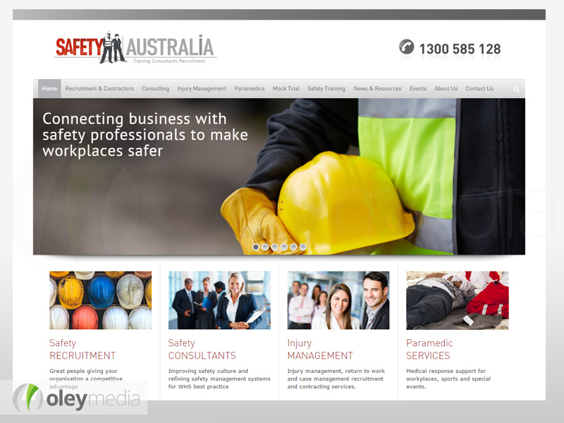 Safety Australia Group Website Design