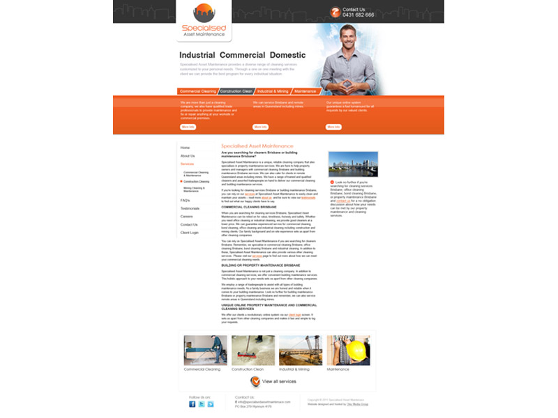 specialised asset maintenance website design