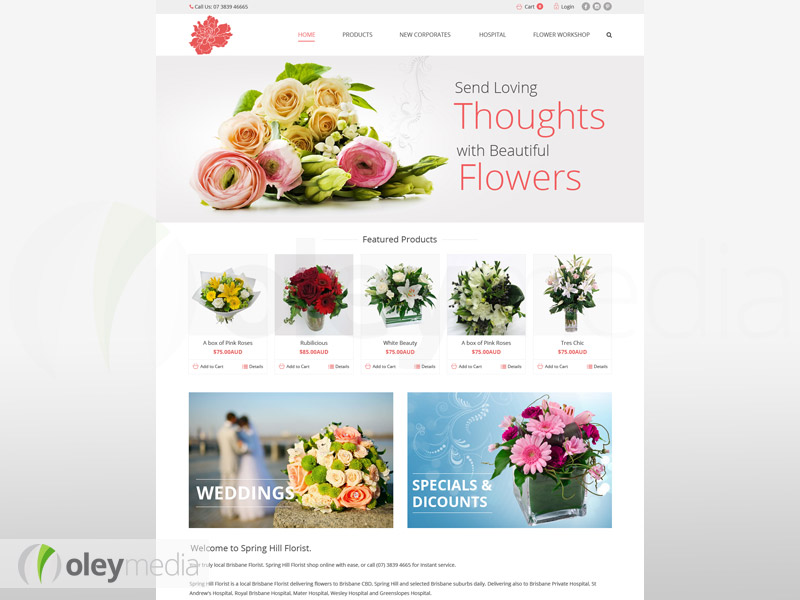 spring hill florist website design