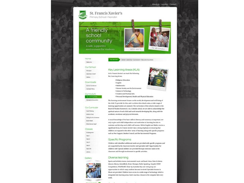 st francis website design